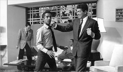 Dean-o and Sammy, on the set of Oceans Eleven